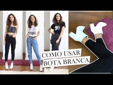 12c02b9ae COMO USAR BOTA BRANCA | 5 LOOKS E TRUQUES DE ESTILO - YouTube