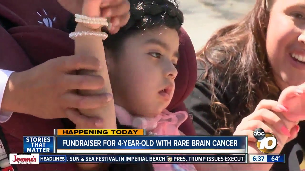 Young girl with brain cancer rino #15