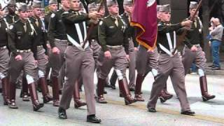 Texas A&M Corps of Cadets March In (Austin TX 2010)