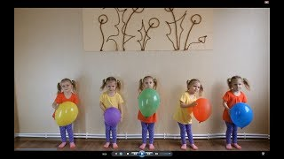 Learn Colors with Five Little Babies Jumping On The Bed  Good Song for kids