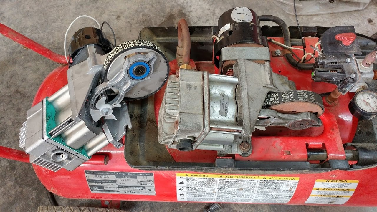 Campbell Hausfeld Air Compressor Motor : Replacing the campbell hausfeld husky air compressor motor