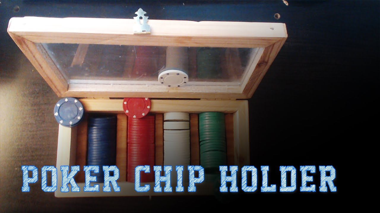 wood working projects: poker chip holder