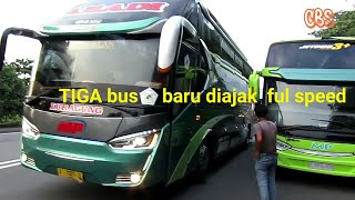Konvoi cepat tiga bus MP Jb3+ Alfarruq, Limoes (Cirebon-Balaraja part2)