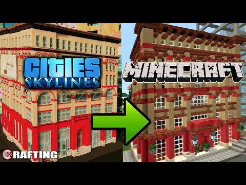 Cities Skylines To Minecraft Lets Build How To Build Commercial Building #1