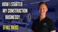 How I Started My Construction Company - (MY FULL STORY)  | Jesse Lane