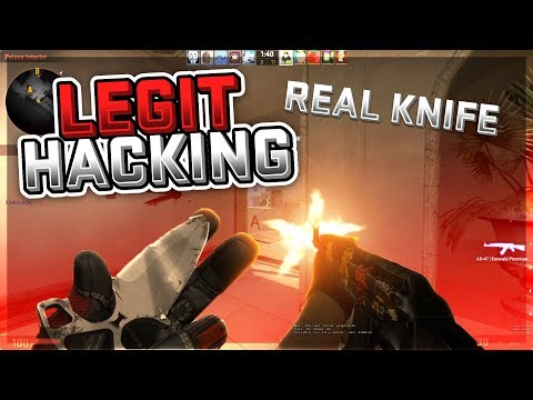 CS:GO Legit Hacking with Iniuria in Prime #6 REAL KNIFE AND SKINS