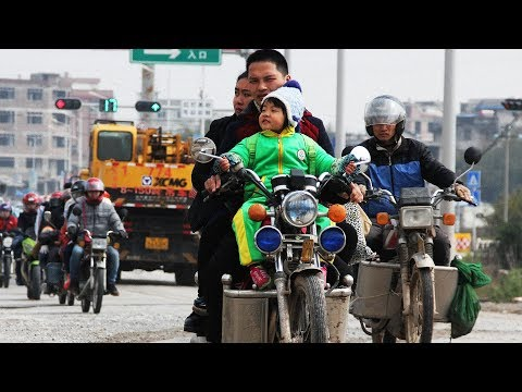 Migrant workers hit the road via motorbikes