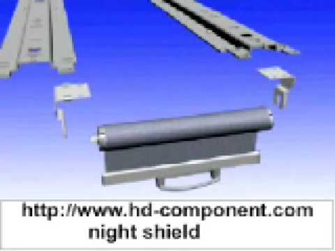 how to install night shield night cover for showcase - YouTube