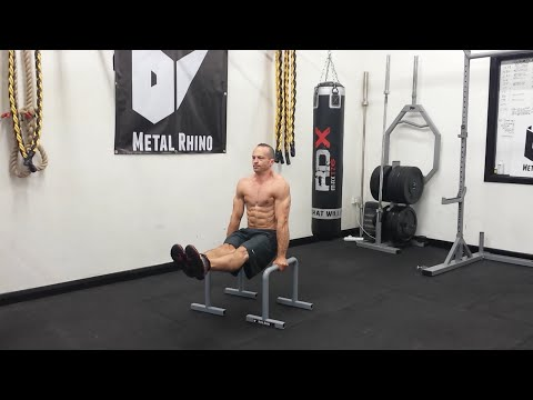 Metal Rhino Parallettes L-Sit to Elbow Lever