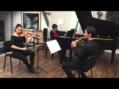 Répétition concert trio cor, violon, piano