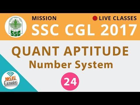 Mission SSC CGL 2017 | Quantitative Maths #Number System | Day-24
