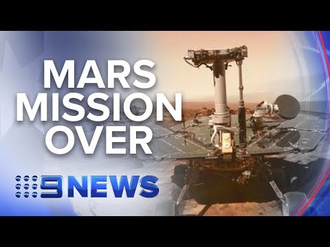 After 15 years, NASA declares Mars rover Opportunity mission over | Nine News Australia Mp3