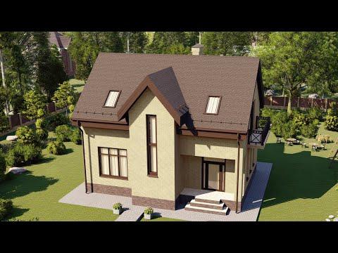 Проект мансардного дома из газобетона - СК Апрель