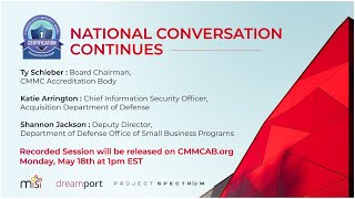 CMMC AB National Conversation Series - An Overview with Board Chairman, Ty Schieber