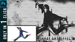 Spray Art Action Photoshop | Photoshop Tutorial | 2018