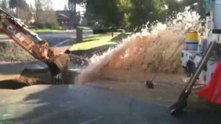 "Backhoe  break 6"" water main!"