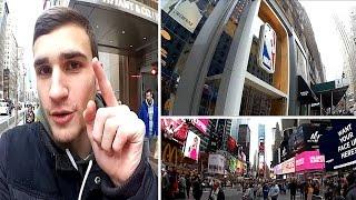 VLOG - USA - New York City : 5th Avenue, NBA Store, Madison Square Garden, Times Square.