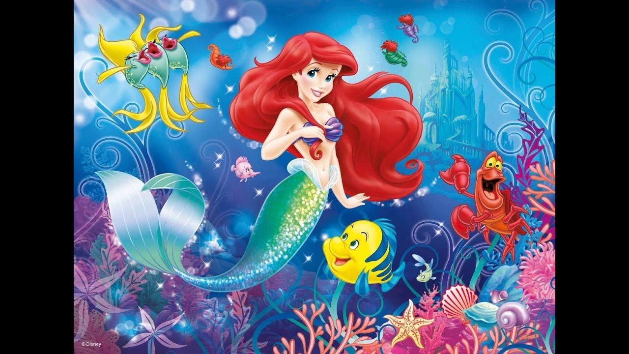 Disney Filme A Pequena Sereia Novo Desenho Completo Da Princesa