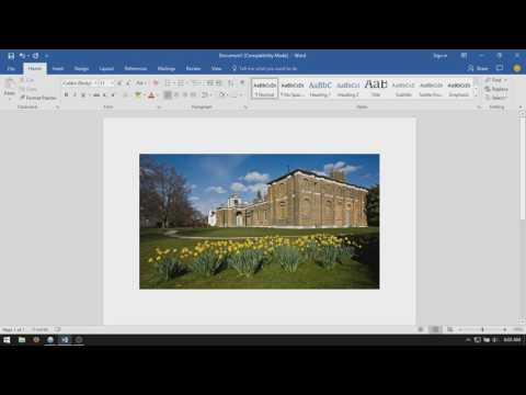 Microsoft Word 2016: How To Move Images Freely
