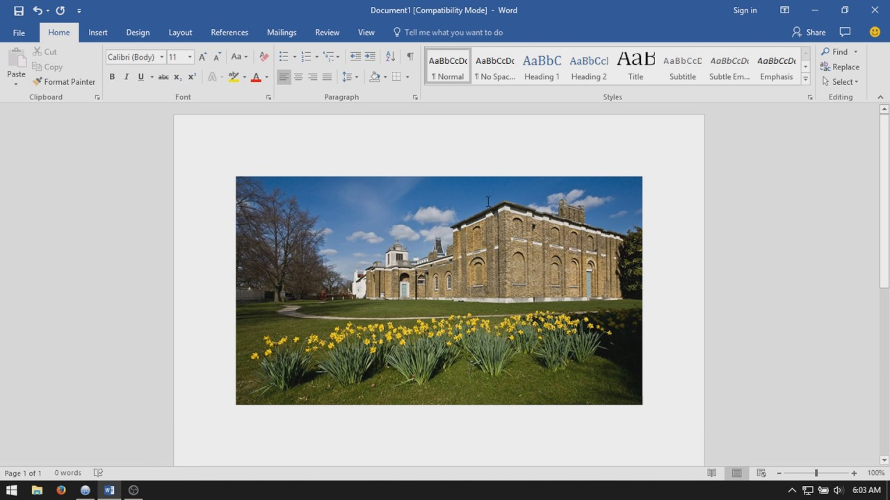 Microsoft Word 2016: How to Move Images Freely - YouTube