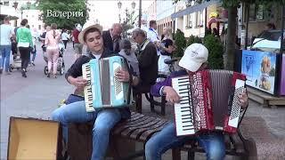 Дуэт аккордеонистов играет на улице! #music
