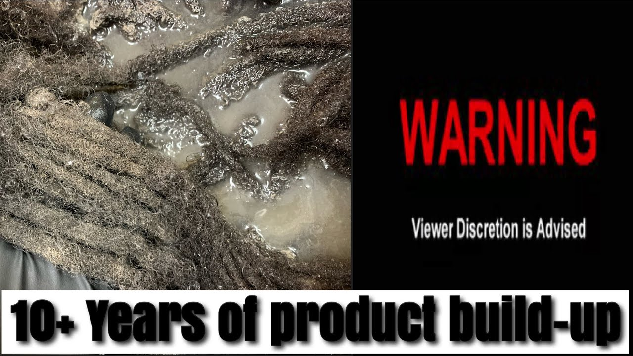 Product Buildup 10+ Years #warning #acvrinse #locs #dreads #retwist #transformation #washday