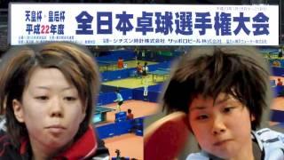 全日本卓球選手権 女子シングルス 準々決勝 藤沼亜衣 vs 森薗美咲