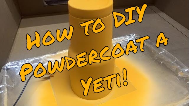 How to diy powder coat a yeti cup