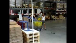 Little Miss Robot going to IKEA