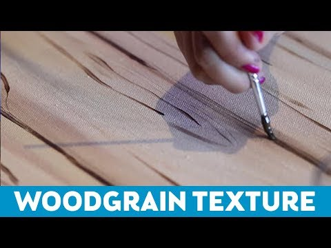 Art Tips for Non-Artists: How to Paint Woodgrain Texture