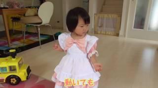 魅惑のベビードレス #01 - ピーチピンクのアリスエプロンドレス | Japanese baby in a baby dress thumbnail
