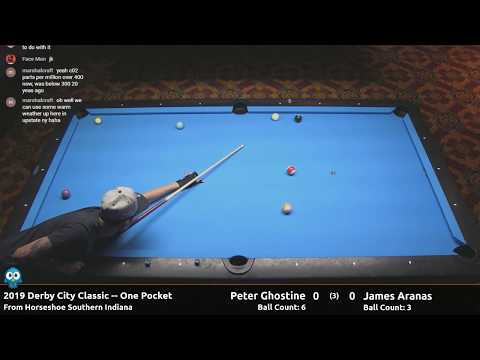 "James ""Dodong Diamond"" Aranas Vs Peter Ghostine - One Pocket - 2019 Derby City Classic"