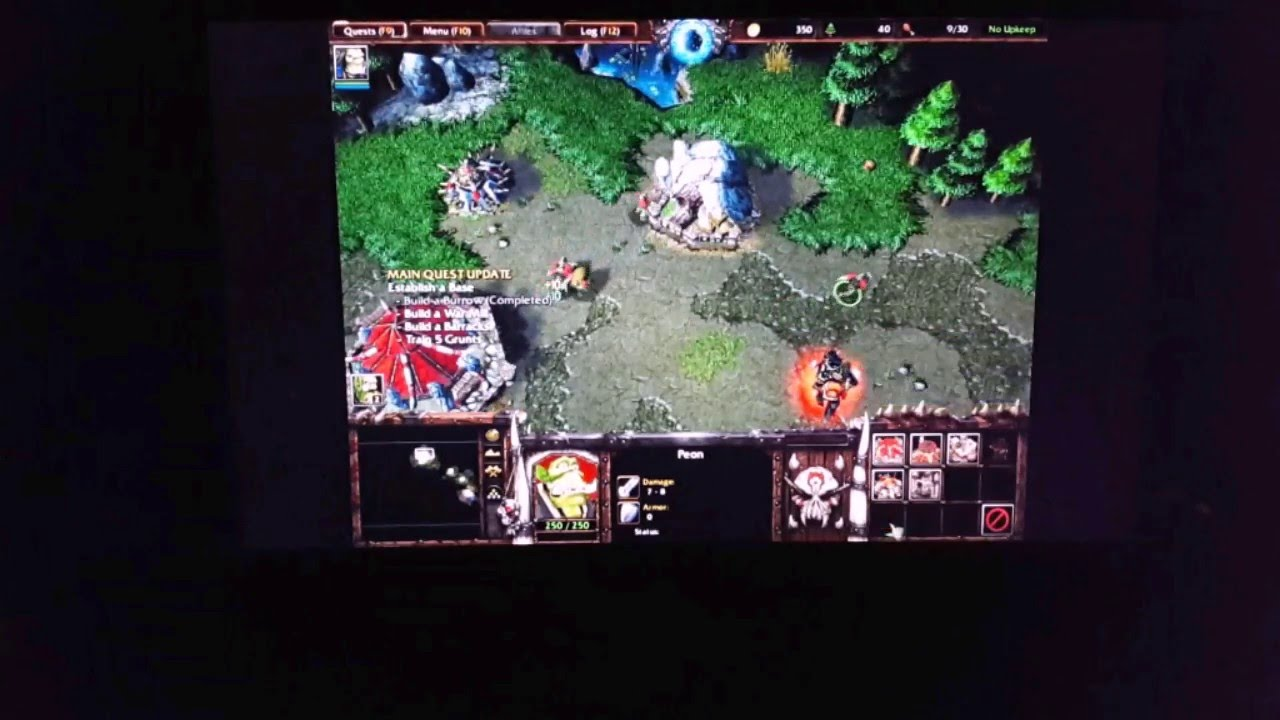 chuwi vi10 warcraft 3 playing on chinese tablet dual os android