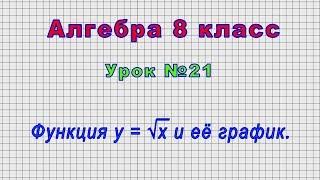 Алгебра 8 класс (Урок№21 - Функция у = √х и её график.)