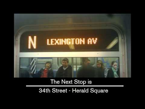 R160 - N train to Lexington avenue announcements [From Atlantic ave to Lexington ave]