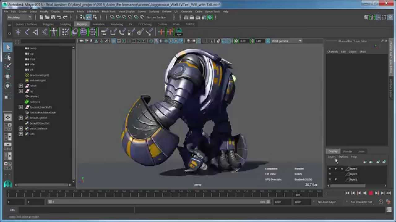 Maya Monday - Parallel Rig Evaluation with Dynamics in Maya 2016 extension 1