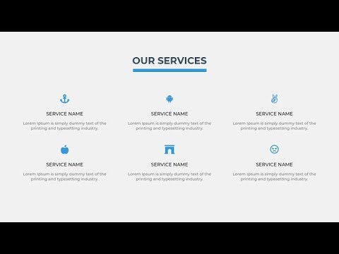 Responsive Our Services Section Using HTML & CSS
