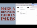 How To Create A Business Card In Pages For Mac (2014)