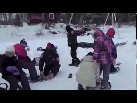 Lac du Flambeau, Wisconsin Ojibwe Winter Games 2013