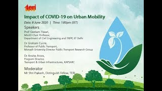 Webinar on Impact of COVID-19 on Urban Mobility