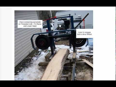 how to build  my homemade bandsaw mill instructions