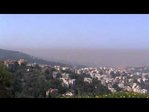 Pollution over Beirut, Lebanon.