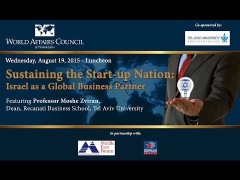 The World Affairs Council of Philadelphia Presents Sustaining the Start-Up Nation