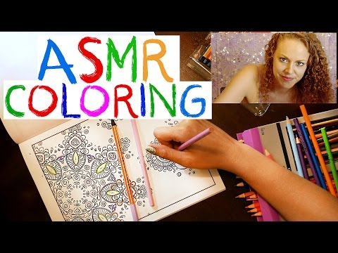 ASMR Soft Spoken Adult Coloring Book for Relaxation, Binaural Triggers, Page Turning, Sleep Aid