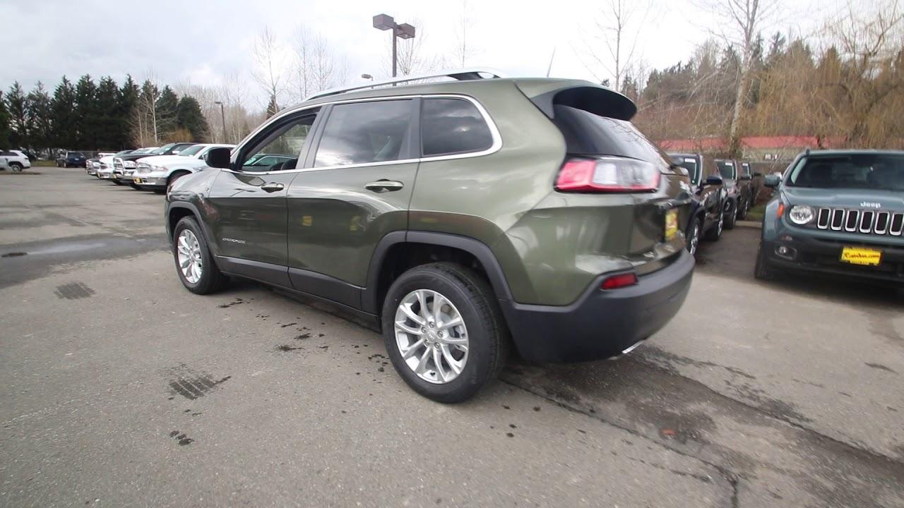 2019 Grand Cherokee >> 2019 Jeep Cherokee Latitude | Olive Green | KD111720 | Redmond | Seattle | - YouTube