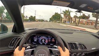 2020 Audi R8 V10 Peŗformance Spyder POV Drive (3D Audio)(ASMR)