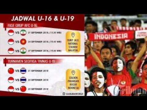 Jadwal Pertandingan Timnas U-16 Di Piala AFC U-16 & Timnas U-19 Di Turnamen Segitiga