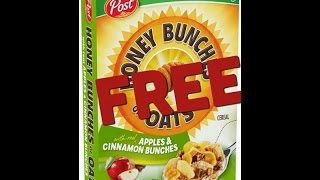 FREE Cereal anyone?!    Small Completely FREE couponing Haul    August 2016