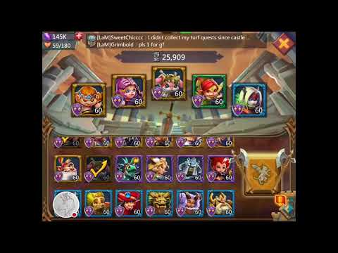 Lords Mobile! Level 6-15 Elite. Best Free To Play Team.