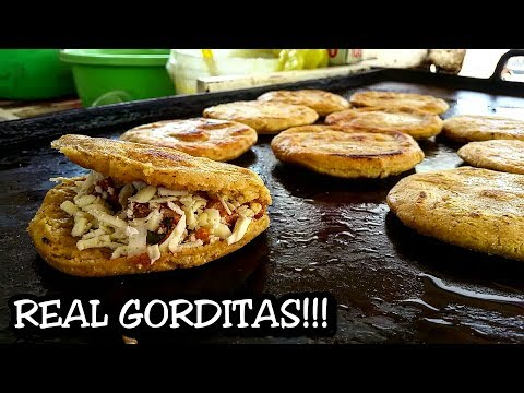 Street Food: Gorditas And Migadas at a Local Street Stand